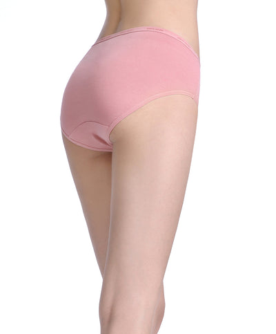 Warm Wood Comfort Cotton Packaging  Panties - High Waist