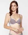 Mixed Yarns with Trim Demi Bra <br> <b> ***Buy 3 bras for $40. Must buy at least 3 for discount.</b>
