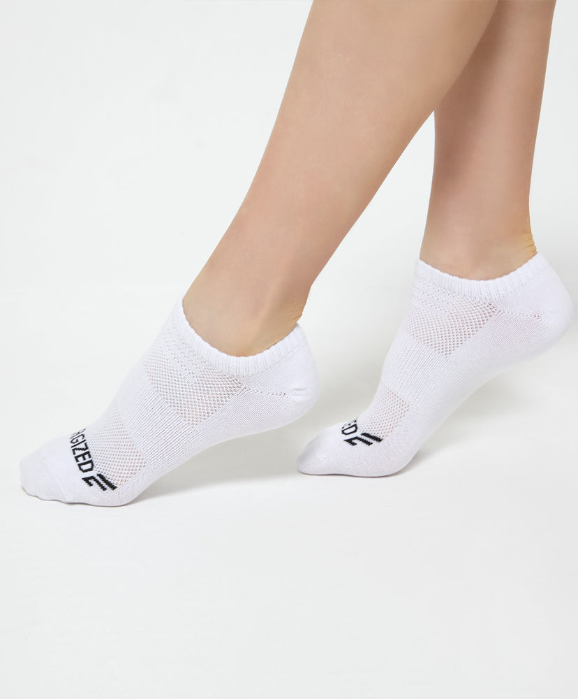 Energized Low Cut White Socks <br> <b>***Buy 4 socks for $5. Must buy at least 4 for discount.</b>