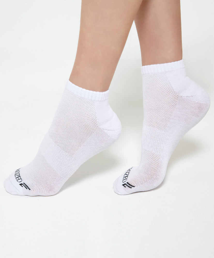 Energized Ankle White Socks <br> <b>***Buy 4 socks for $5. Must buy at least 4 for discount.</b>