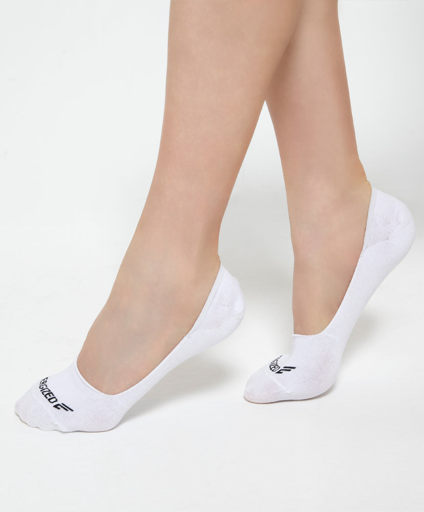 Energized Slip-In White Socks