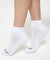 Energized Crew White Socks