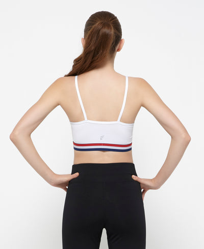 Nautical Strappy Back Sports Bra <br> <b> ***Buy 3 bras for $40. Must buy at least 3 for discount.</b>
