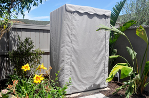 SaunaCovers.com Sauna Covers allow you to place your home indoor sauna outside and protect it from the elements.