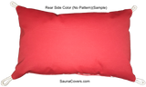 Outdoor Throw Pillow l Rectangle Pillow Rear side