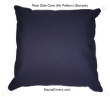 Outdoor l Indoor l Throw Pillow l Square Pillow rear side