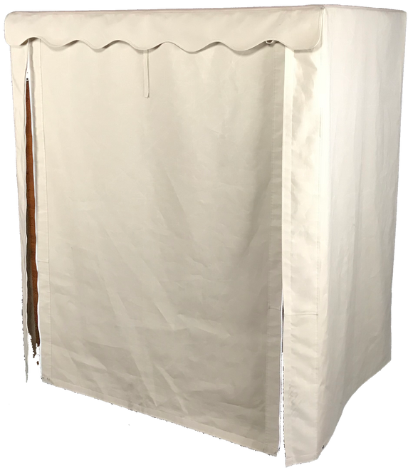 Outdoor Sauna Cover with cover fully closed