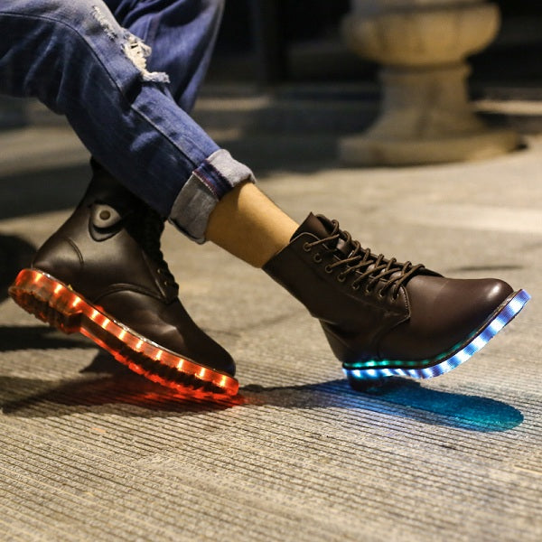 LED Leather Boots