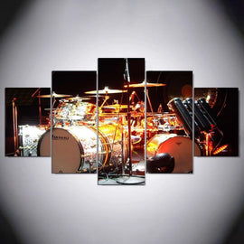 Drum Set Wall Canvas