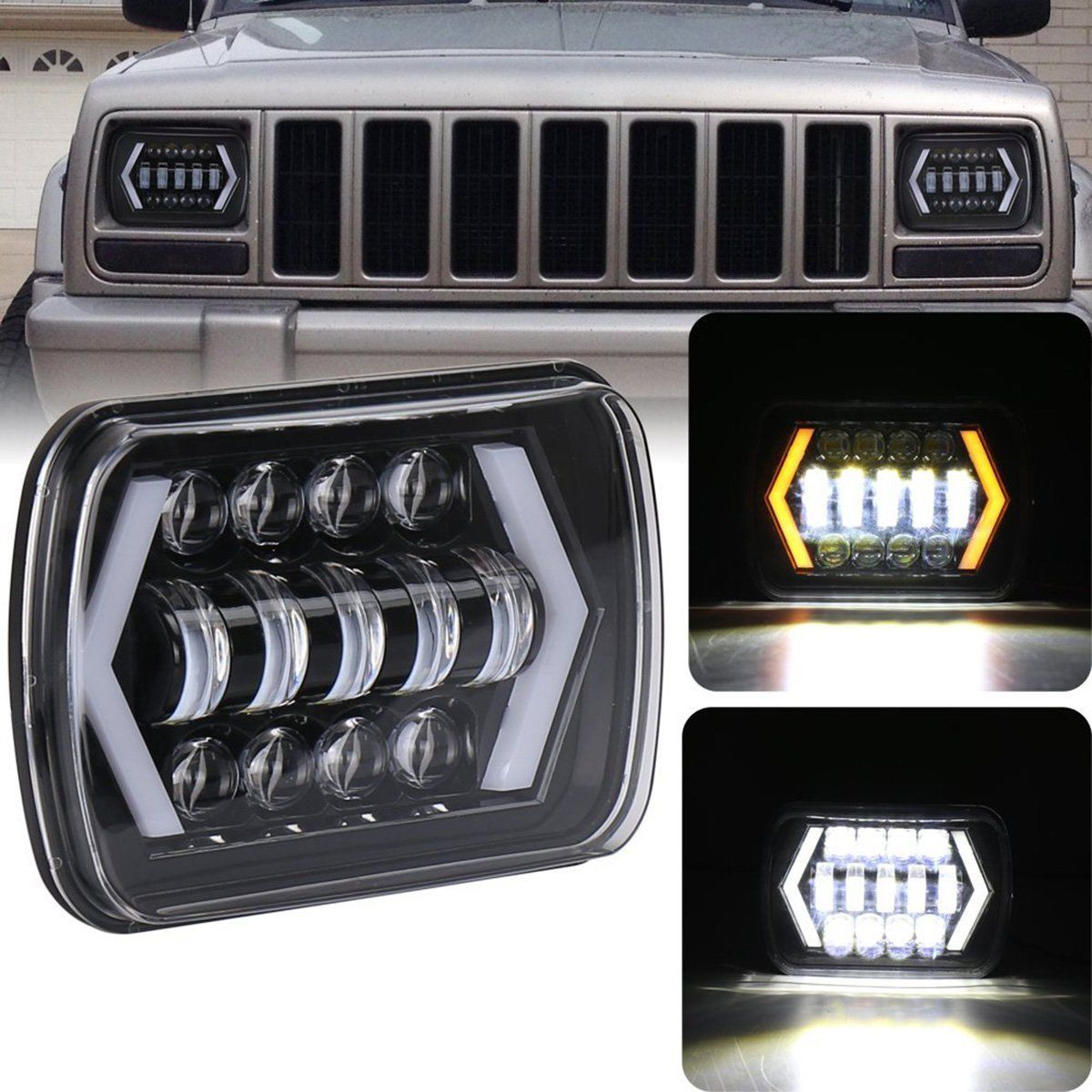 LED Projector Jeep Headlight