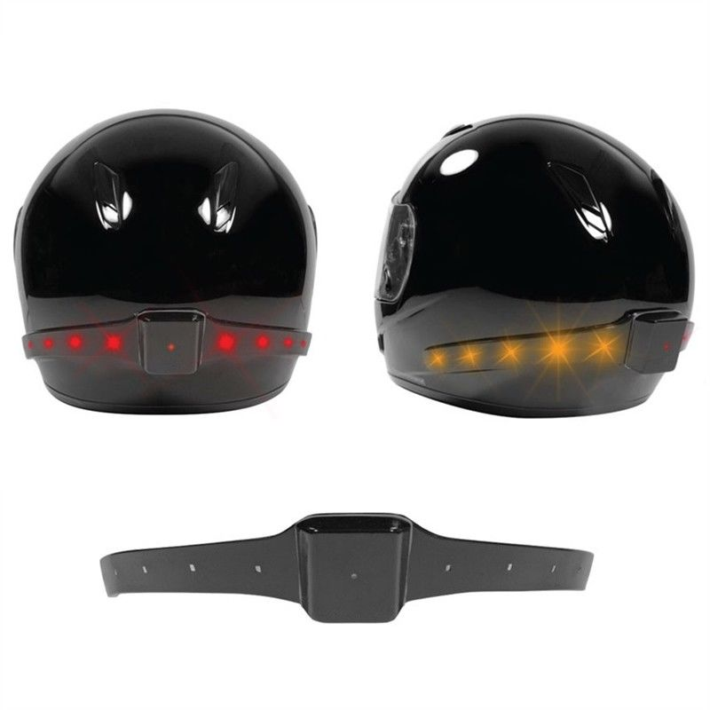 Motorcycle LED Turn Single Helmet Lighting