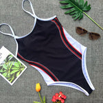 Striped Printed Swimsuit