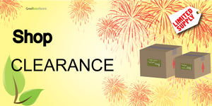 Shop our clearance section for deals on Solar Panels, chargers, batteries & Power Inverters