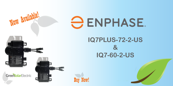 Green Solar Electric, Enphase IQ 7 plus, Micro inverter, Enphase Latest Model, Enphase IQ-7+, Enphase Iq-7,