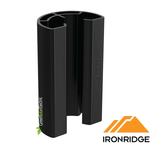 IronRidge, Racking, Stopper Sleeve, End Clamp, Black.