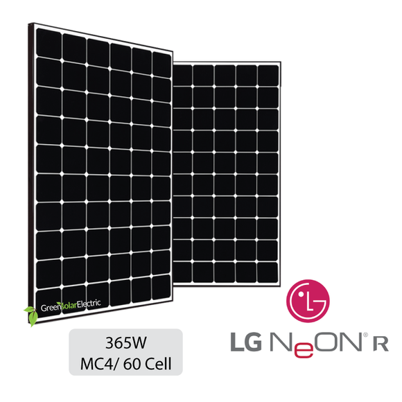 LG, Neon R, Solar Panels, Green Solar Electric.