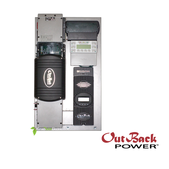 OutBack Power's FX Series pre wired Solar Power Inverter, Charge controler, mate-3s, hub10.3
