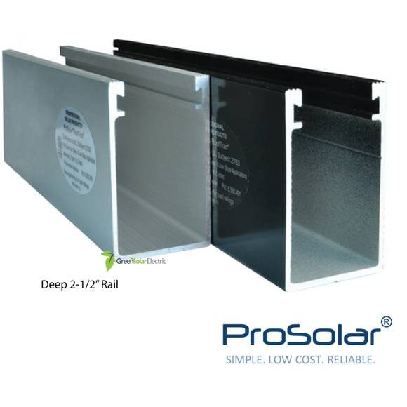 ProSolar, Solar Panel Installation Components, Solar Panel Racking, Solar Panel Mounting Hardware, Solar Mounting Rails.