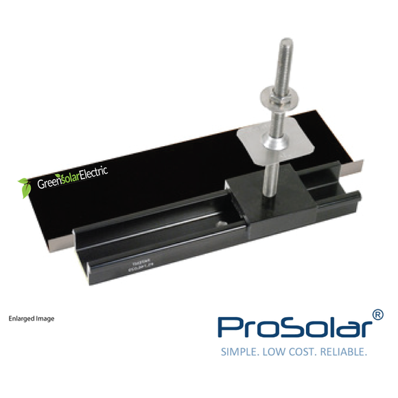 ProSolar, Solar Panel Installation Components, Solar Panel Racking, Solar Panel Mounting Hardware, Flashing, Roof Attachment.