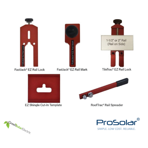 ProSolar, Solar Panel Installation Components, Solar Panel Racking, Solar Panel Mounting Hardware, Instalation Tools.