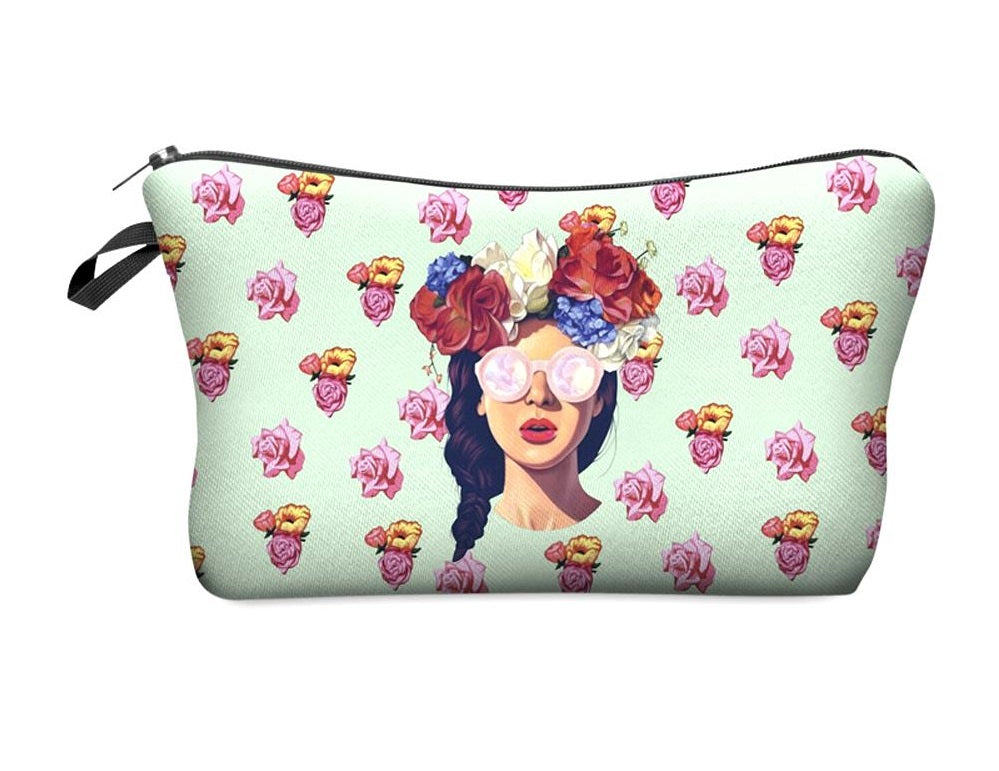 Hipster Girl Makeup Pouch