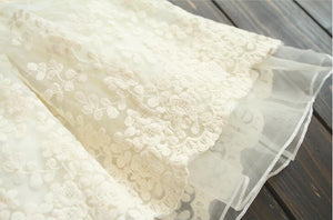 Fairytale cream lace skirt