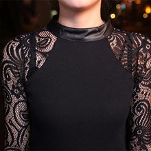 Black lace sleeve top