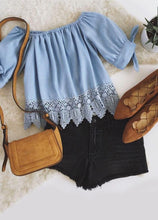 Cute laced off-shoulder top