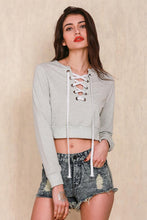 Gray full sleeve crop top