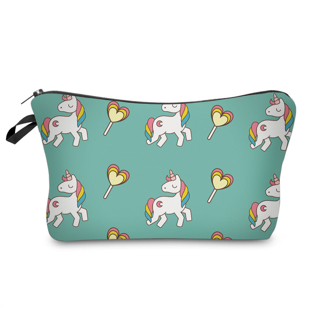 Green Unicorn Makeup Pouch