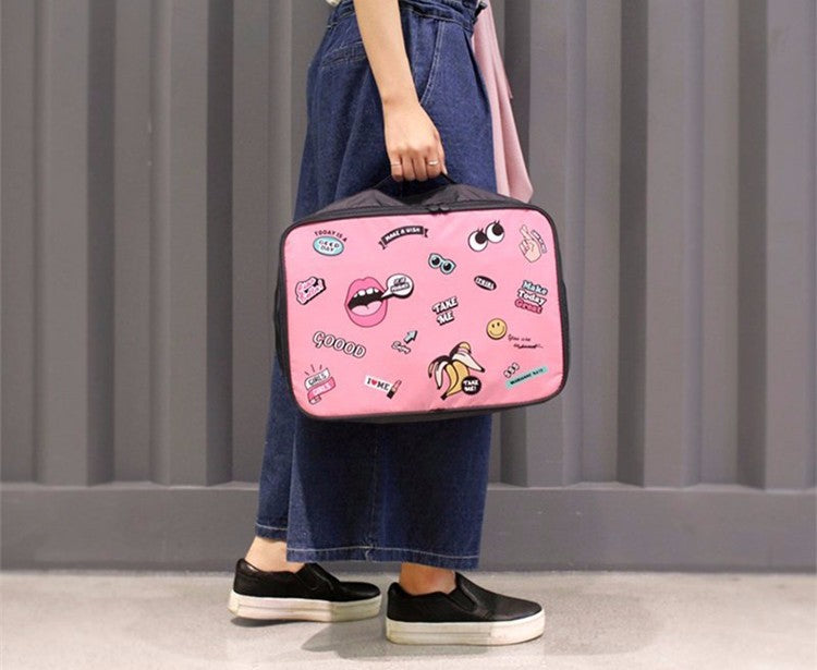 Pink travel handbag
