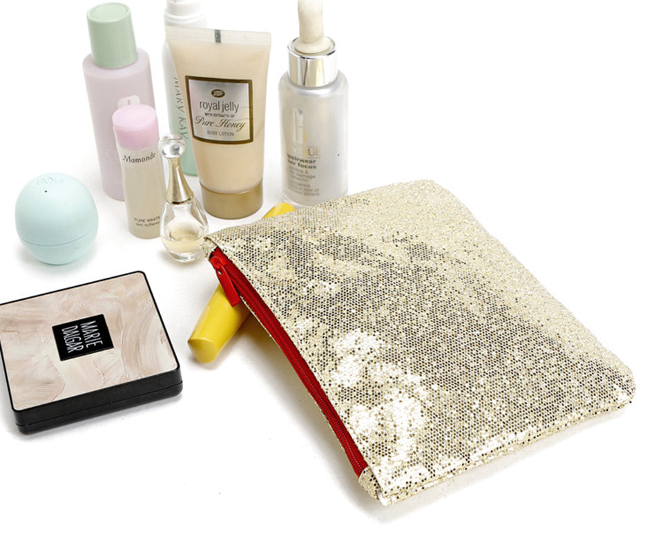 Blingy gold pouch