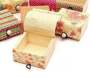Floral Bamboo Jewelry Box - small prints
