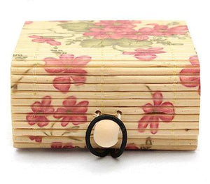 Floral Bamboo Jewelry Box