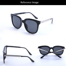 Black frame blue mirror sunglasses