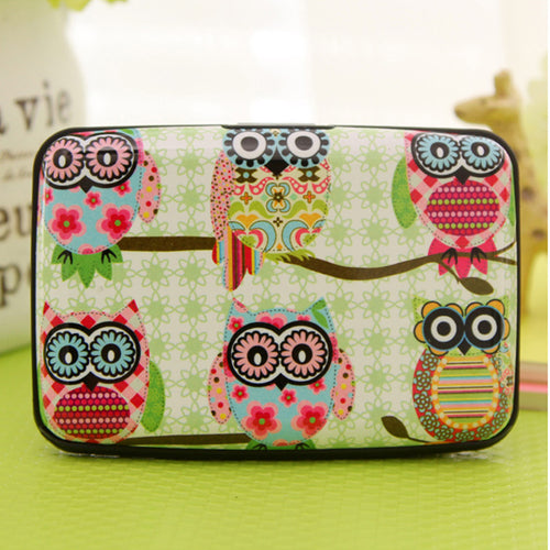 Cute owl army card holder