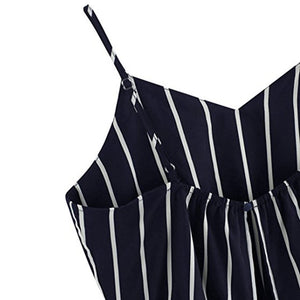 Striped navy blue camisole