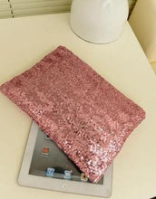 Sequin pink clutch