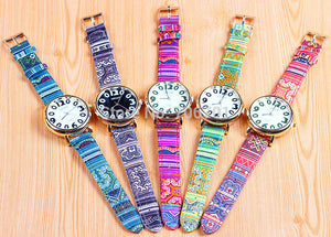 Vintage prints red watch