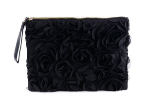 Black rose clutch