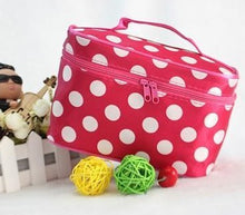 Polka dots pink makeup bag