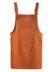 Cute khaki pinafore dress