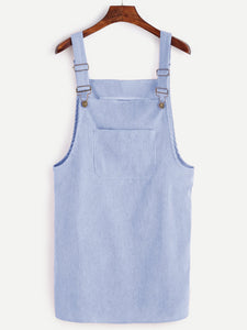 Cute blue pinafore dress