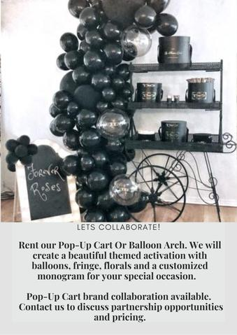 Flower and balloon cart for rent Los Angeles