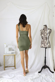 A Blessed Life Dress -Olive