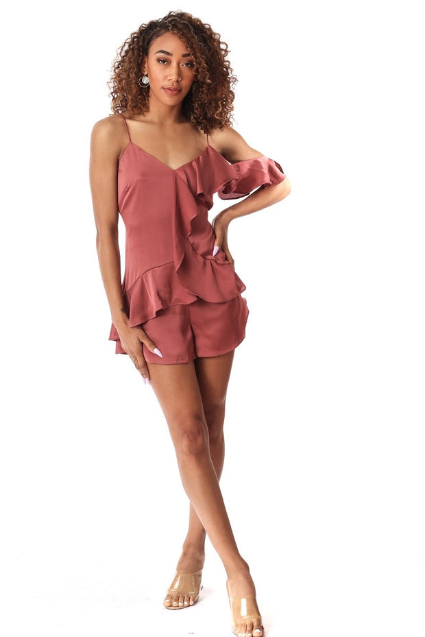 Sultry Ruffle Romper
