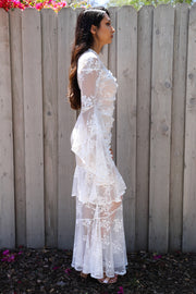 Lost Together Lace Ruffle Dress