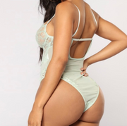 Sexy Mint Green Lace Bodysuit | Her Wonderland