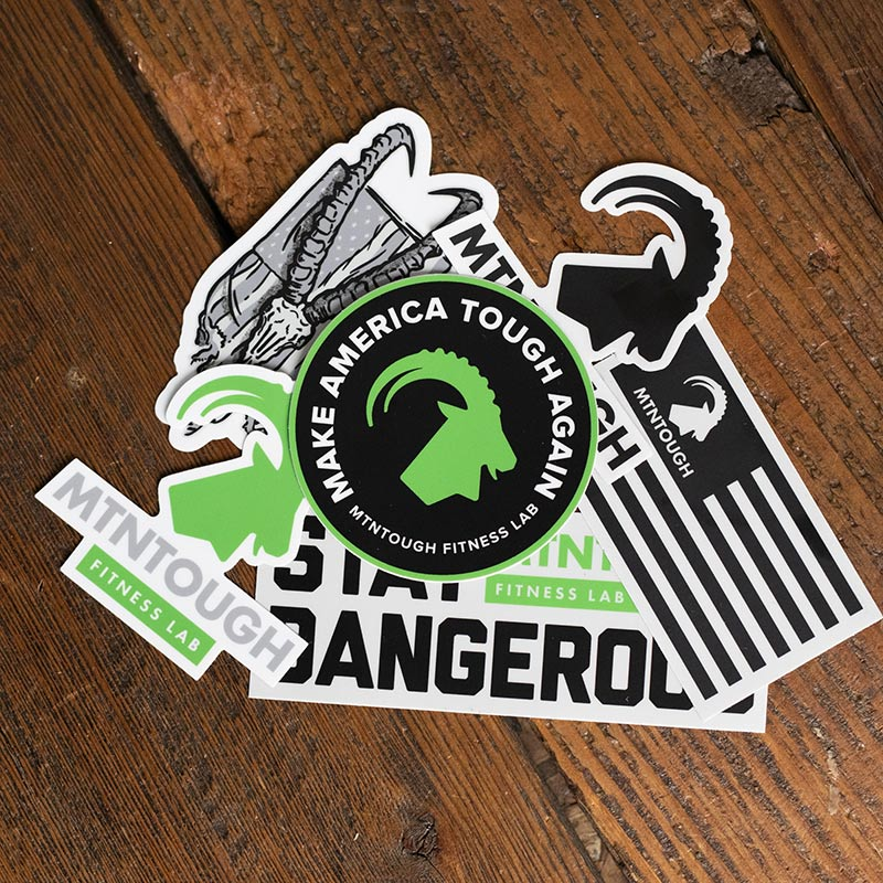 NEW MTNTOUGH STICKER PACK