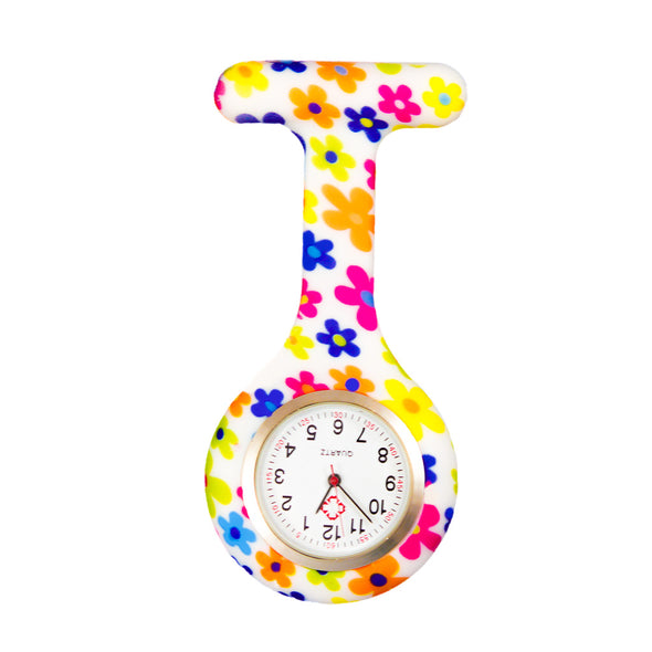 Multi-coloured flowers nurse watch
